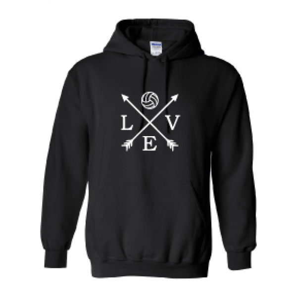 HOODIE VOLLEYBALL LOVE ARROW