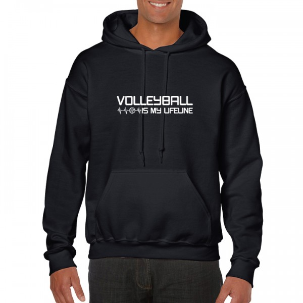 HOODIE VOLLEYBALL IS MY LIFELINE