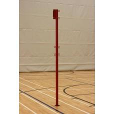 """Poteau central de volleyball 60mm [2-3 / 8 """"] avec oeillets et poulie"""